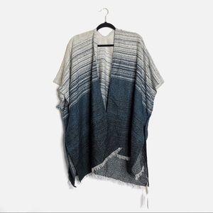 Lucky Brand Sweaters - Lucky Brand | Degrade Geo Striped Fringe Kimono